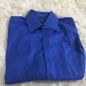 Perry Ellis Portfolio blue men's button down shirt